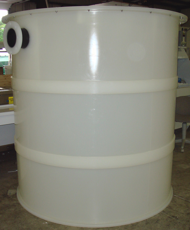 Fabricated plastic tanks commercial water purification
